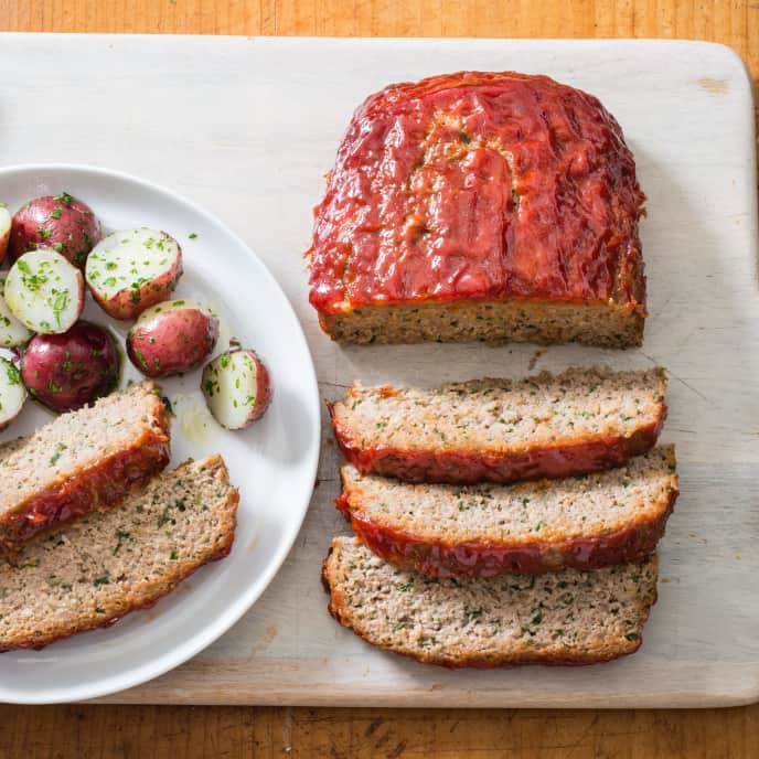 Turkey Meatloaf with Ketchup-Brown Sugar Glaze