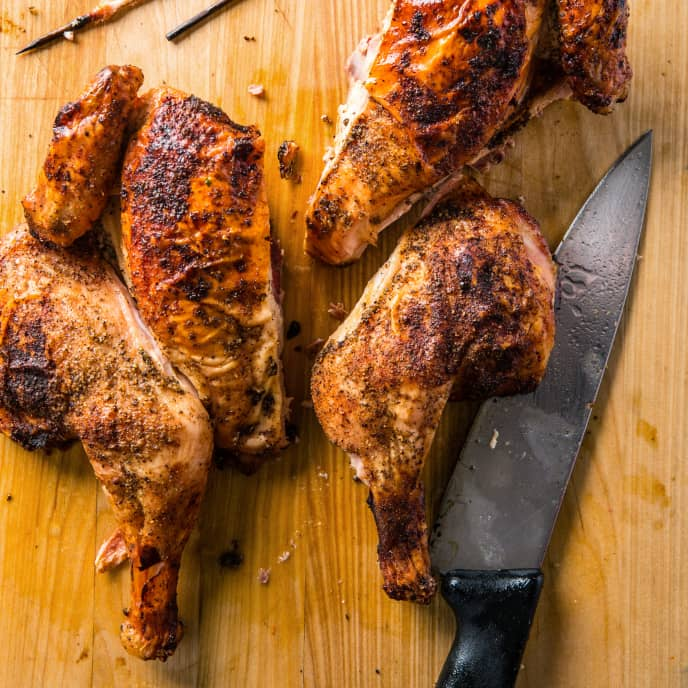 Easy Grill-Roasted Butterflied Chicken
