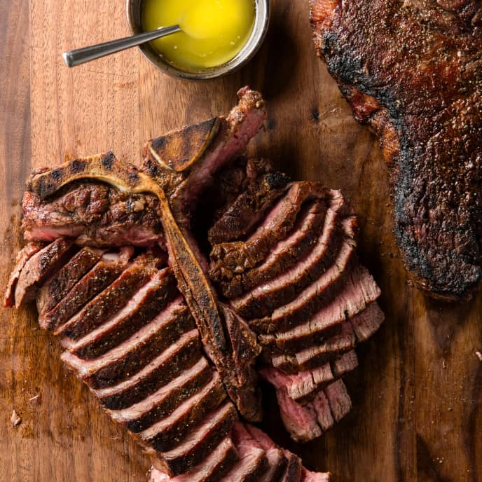 Grilled Thick-Cut Porterhouse Steaks