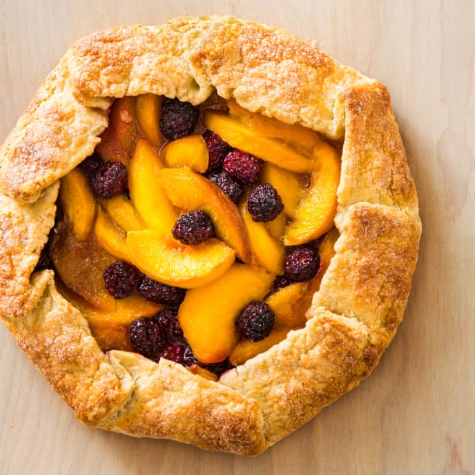 Easy Peach and Blackberry Tart