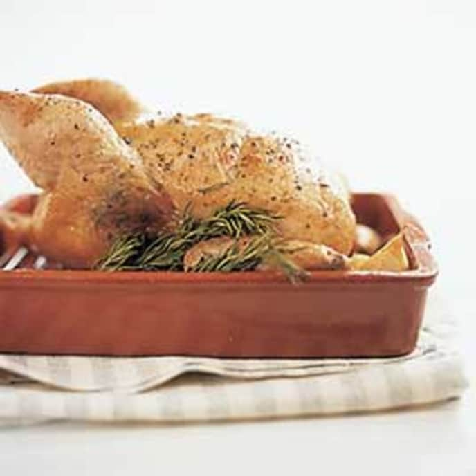 Garlic-Rosemary Roast Chicken with Jus