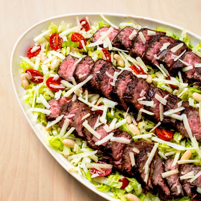 Steak Salad with White Beans and Rosemary Vinaigrette