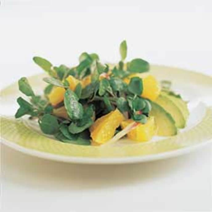 Orange, Avocado, and Watercress Salad with Ginger-Lime Vinaigrette