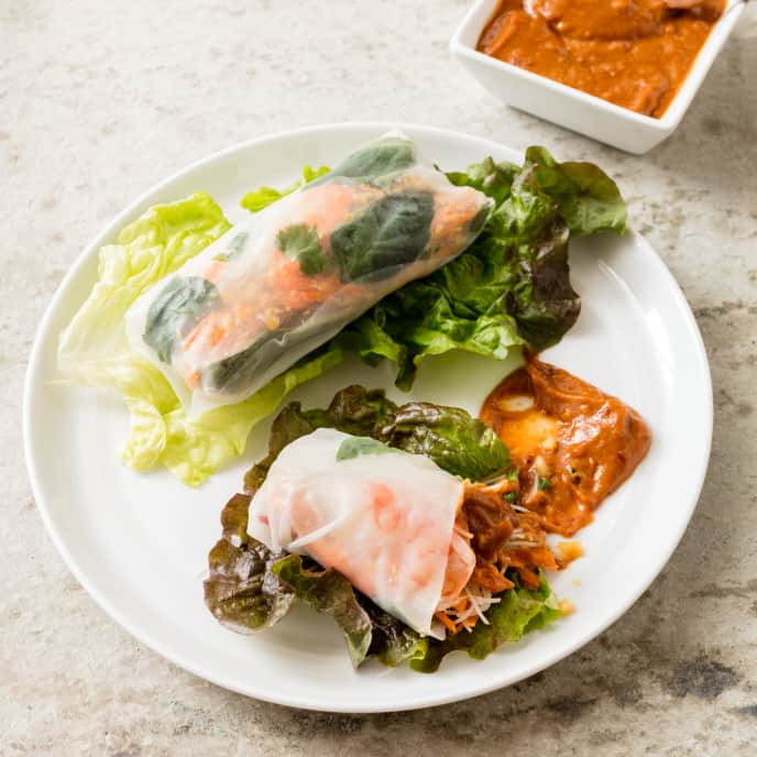 Southeast Asian-Style Spring Rolls With Shrimp