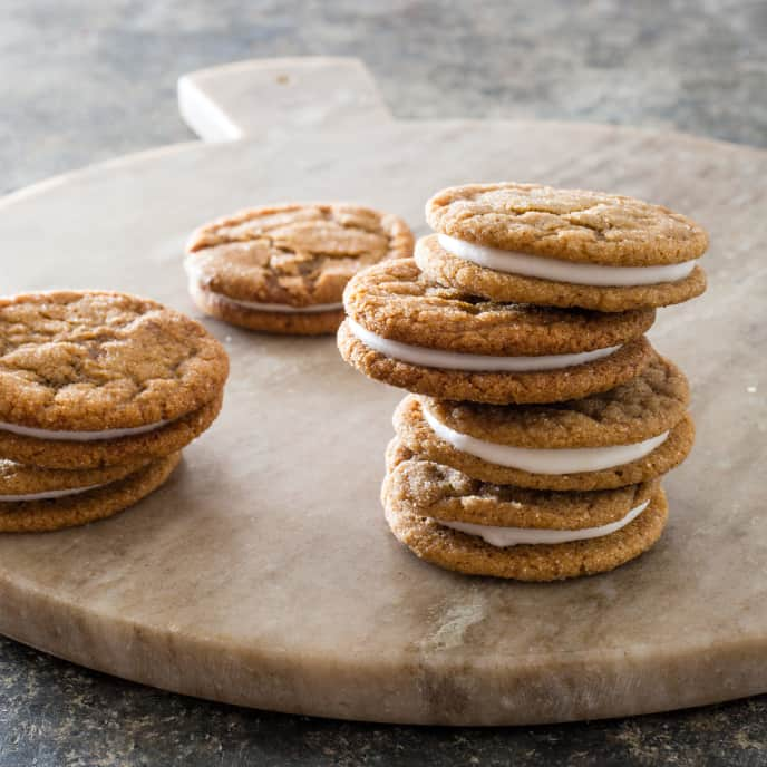 Molasses Spice Lemon Sandwich Cookies