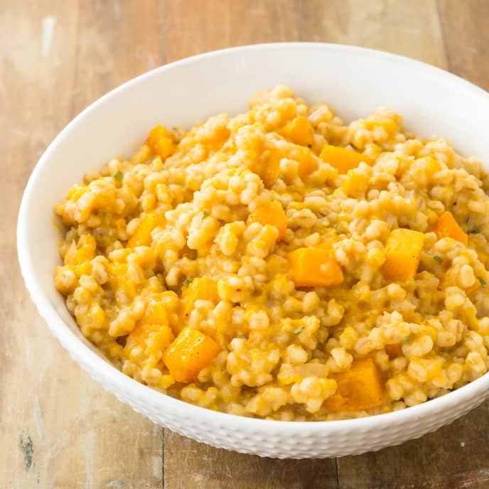 Barley Risotto with Roasted Butternut Squash