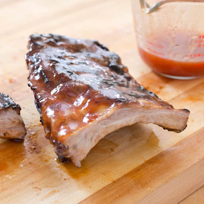 Grilled Glazed Baby Back Ribs