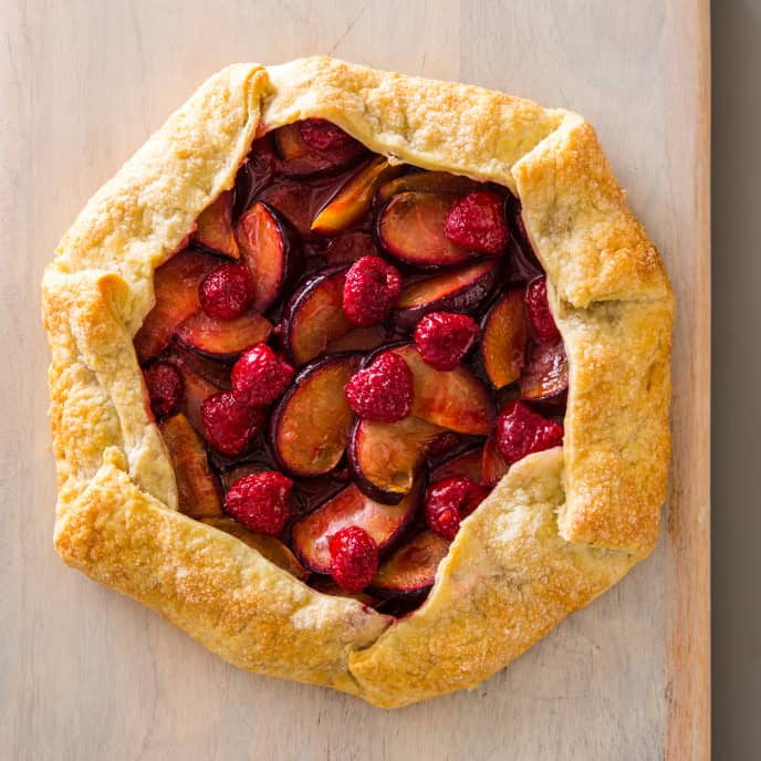 Easy Plum and Raspberry Tart