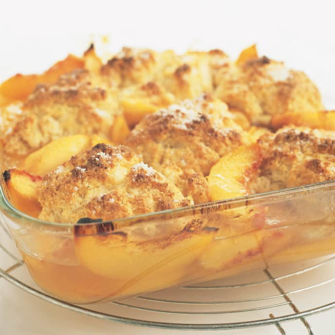 Peach Cobbler with Frozen Peaches