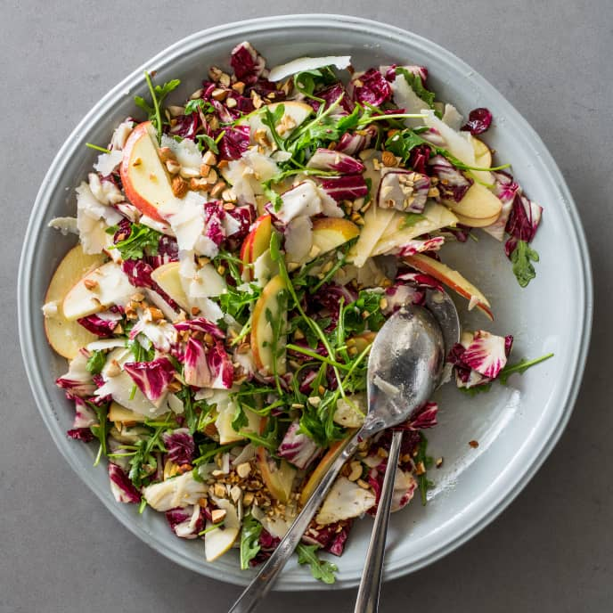 Radicchio Salad with Apple, Arugula, and Parmesan