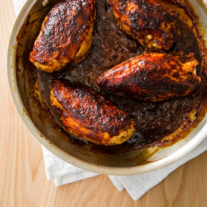 Indoor Barbecued Chicken