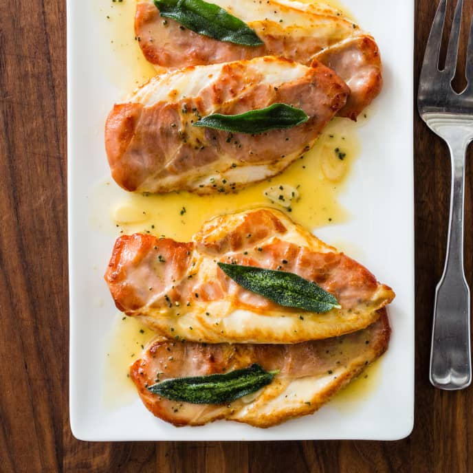 Chicken Saltimbocca for Two