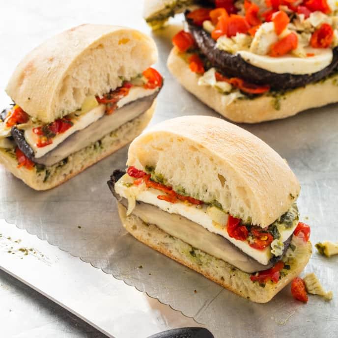 Portobello Mushroom Sandwiches