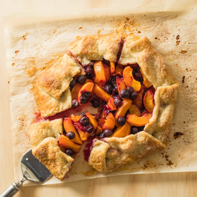 Easy Apricot and Blueberry Tart