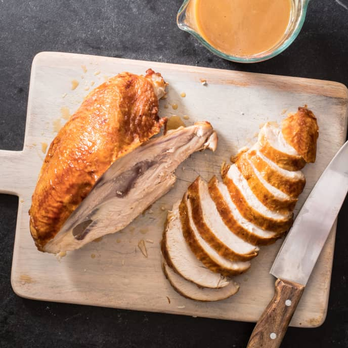 Roast Whole Turkey Breast with Gravy