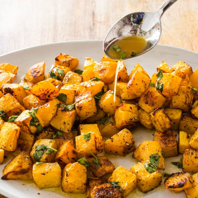 Spice-Roasted Butternut Squash with Honey-Orange Butter