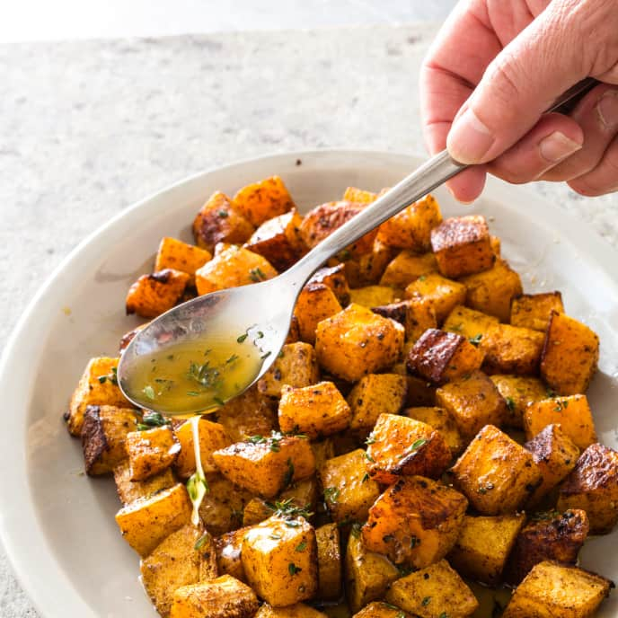 Spice-Roasted Butternut Squash with Honey-Lemon Butter