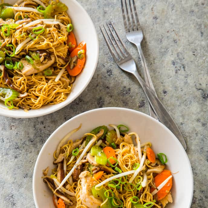 Chicken Chow Mein for Two