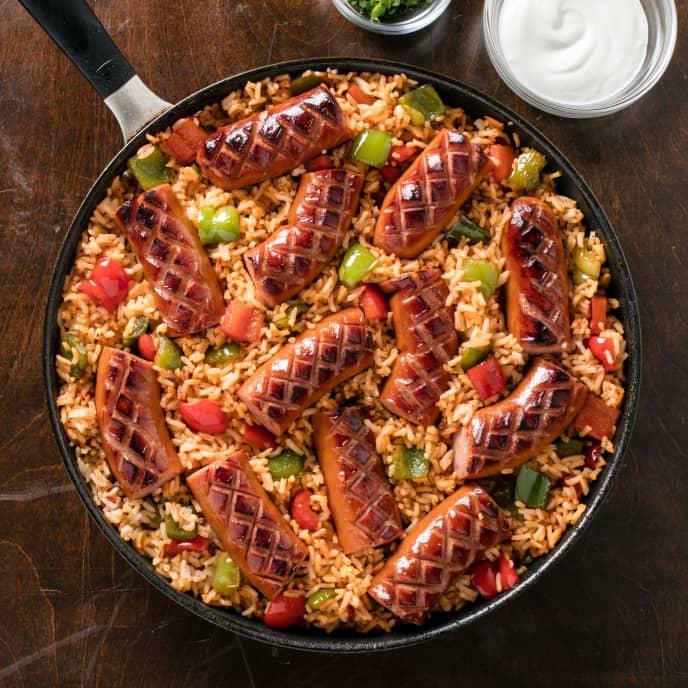 Kielbasa with Hot Rice