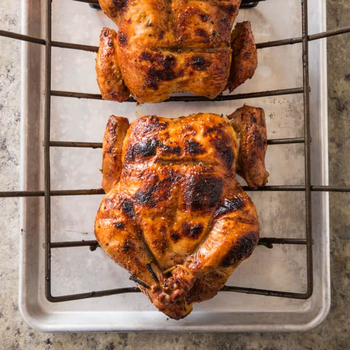 Honey-Mustard Glazed Grill-Roasted Chicken