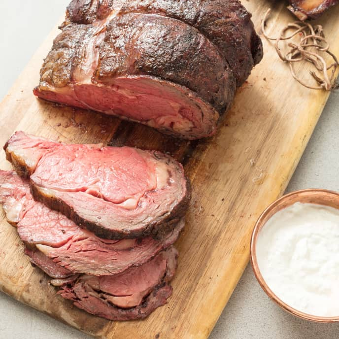 Grill-Roasted Prime Rib For Charcoal Grill