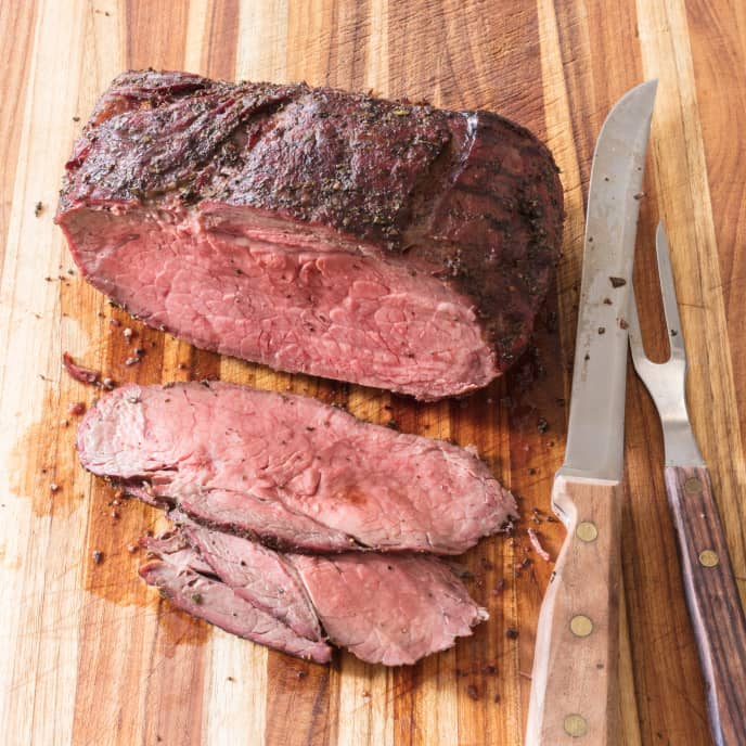 Inexpensive Gas-Grill-Roasted Beef with Garlic and Rosemary