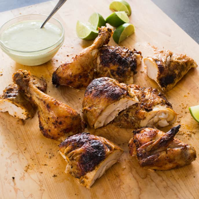 Peruvian Roast Chicken with Garlic and Lime