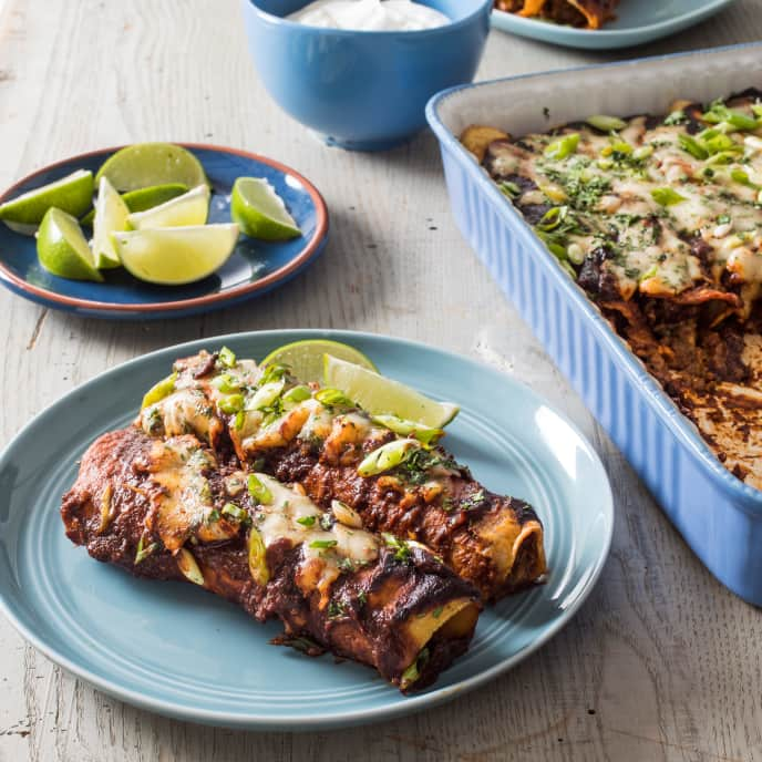 Ground Beef and Cheese Enchiladas