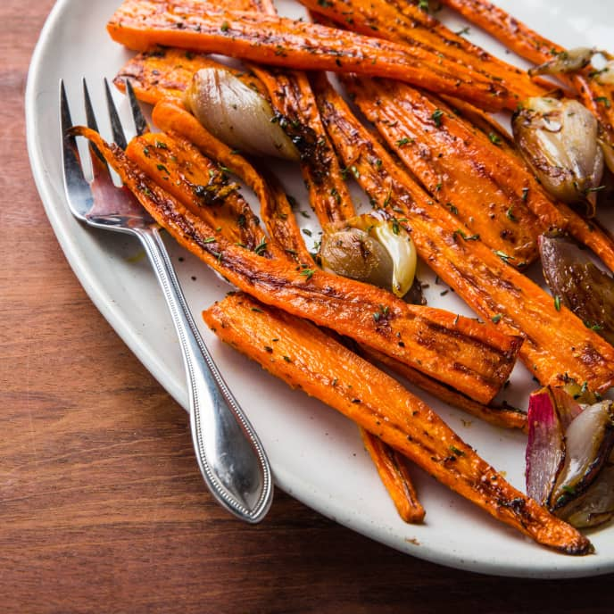 Roasted Carrots and Shallots