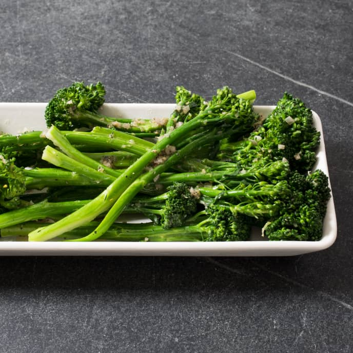 Pan-Steamed Broccolini with Shallot