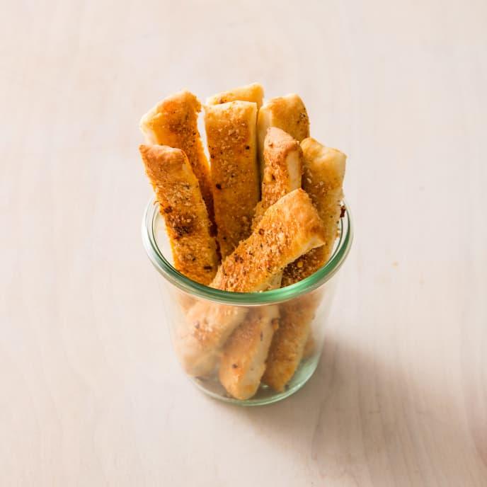 Spicy Parmesan Breadsticks