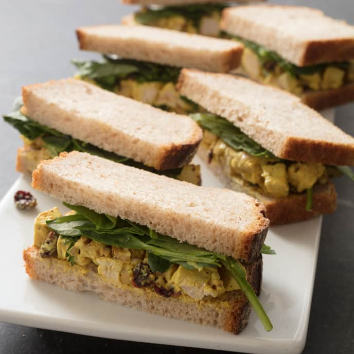 Turmeric Chicken Salad Sandwiches