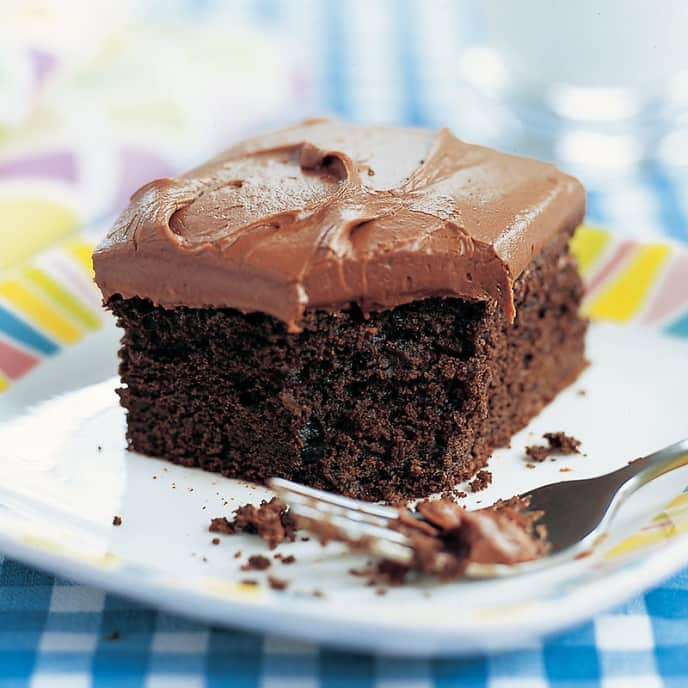 Reduced-Fat Chocolate Sheet Cake