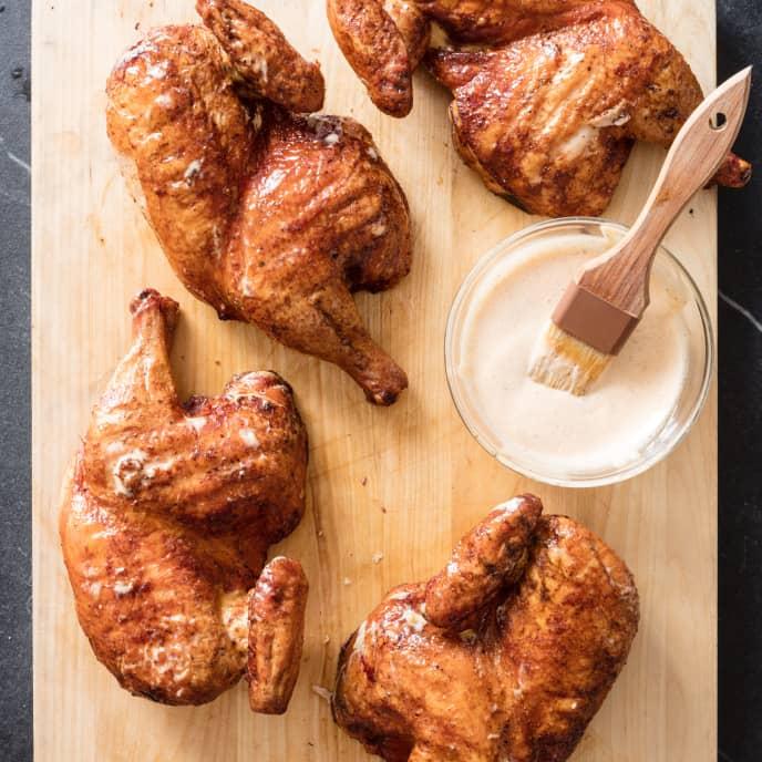 Alabama BBQ Chicken on a Gas Grill