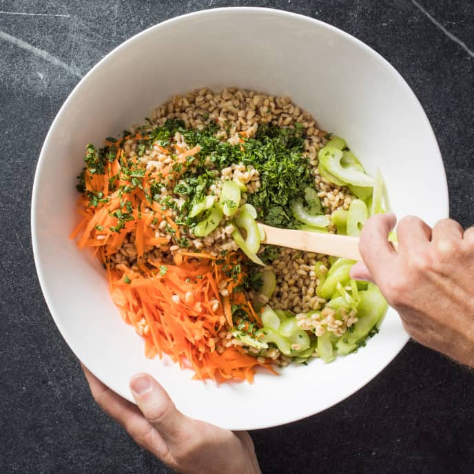 Barley with Celery and Miso Dressing