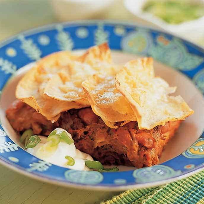 Southwestern Beef Tortilla Casserole