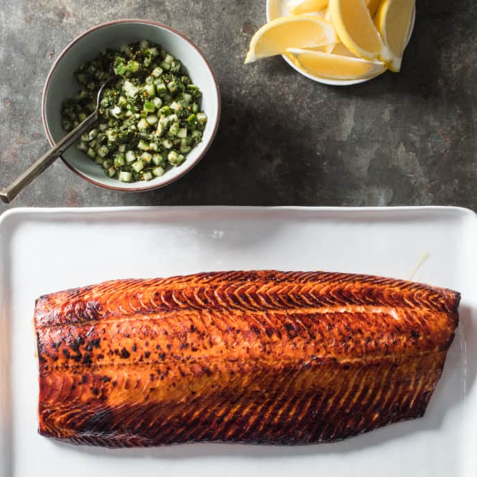 Roasted Whole Side of Salmon