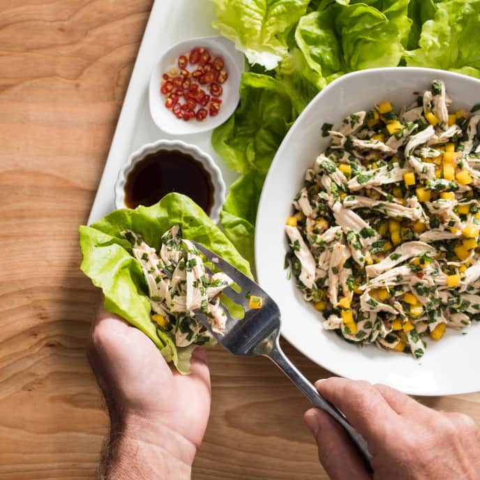 Thai-Style Chicken Salad with Mango