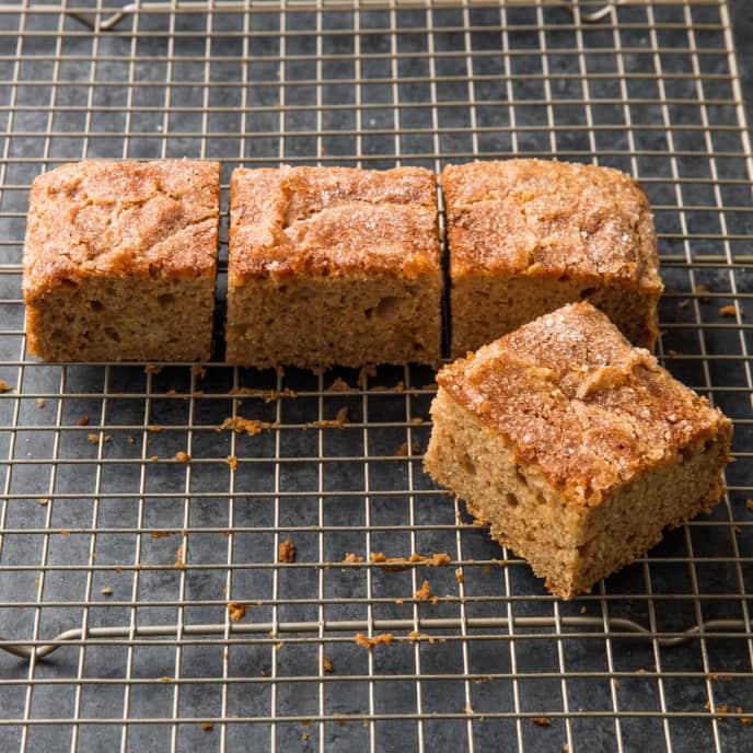 Ginger-Cardamom Applesauce Snack Cake