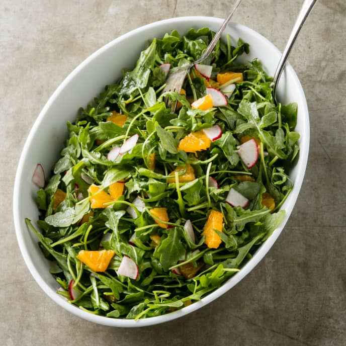 Orange and Radish Salad with Arugula