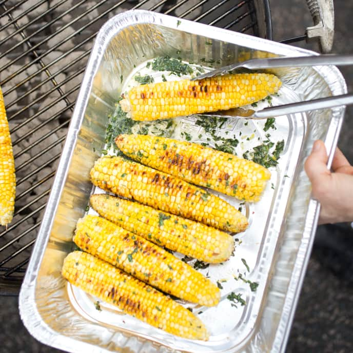 Grilled Corn with Flavored Butter
