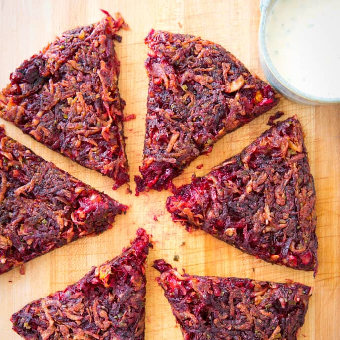 Beet and Potato Roesti