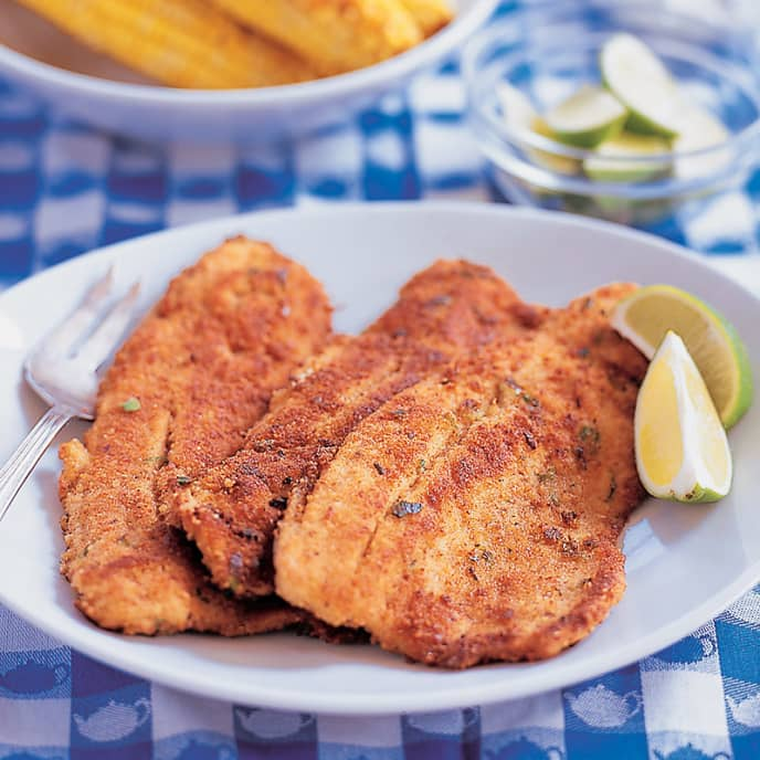Fried Fish with Pickled Jalapeño Mayonnaise