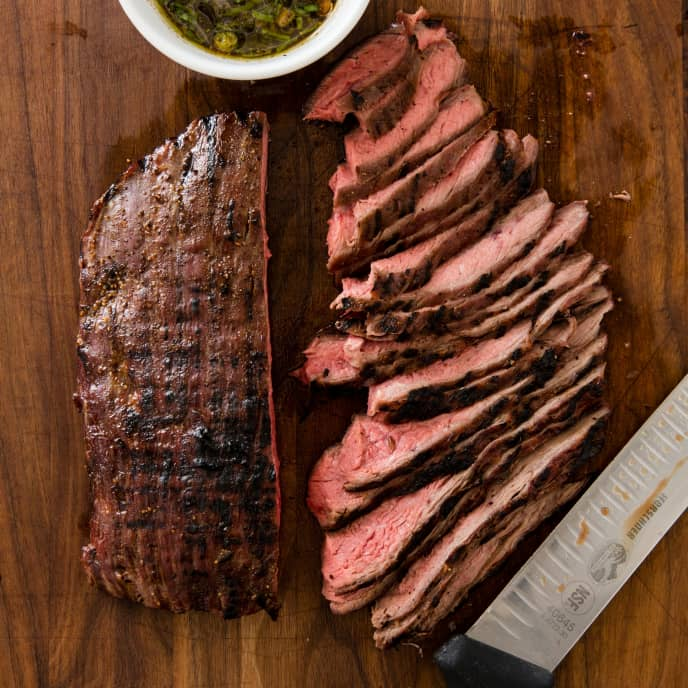 Grilled Flank Steak with Soy Dressing