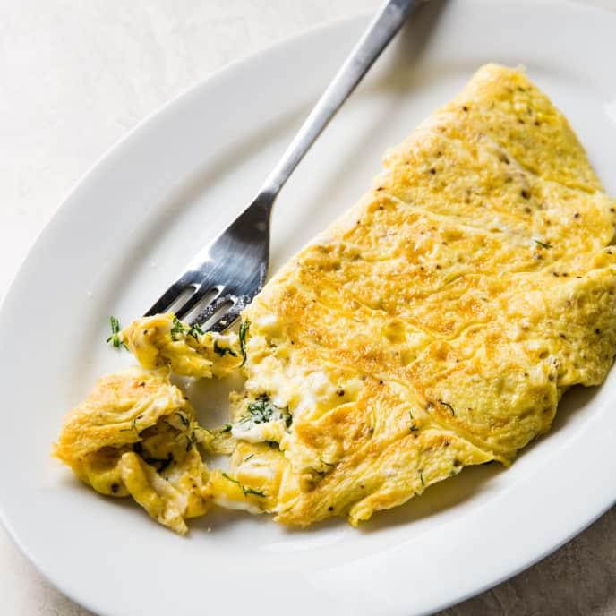 Easy Feta and Dill Omelet