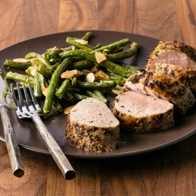 Lemon-Herb Pork Tenderloin with Green Beans