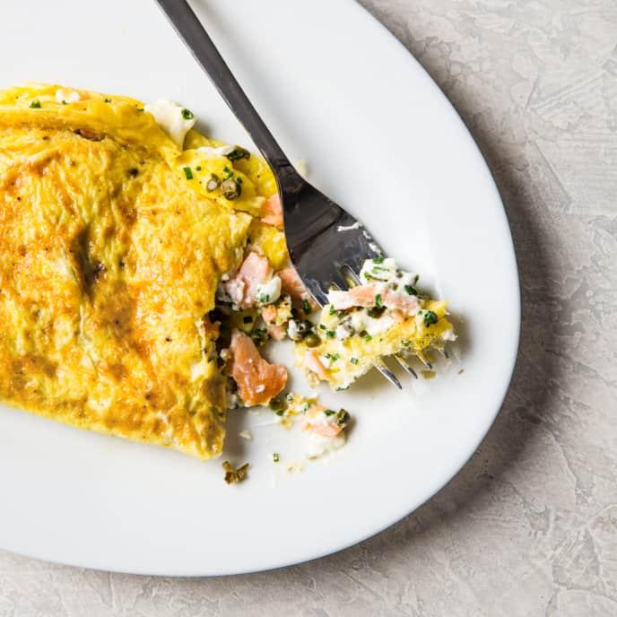 Easy Smoked Salmon Omelet