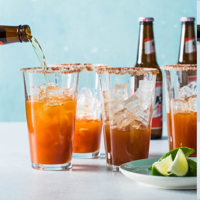 Michelada (Mexican Beer and Lime Cocktail)