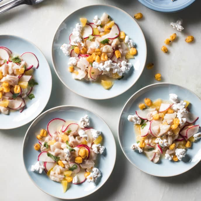 Peruvian Fish Ceviche with Radishes and Orange