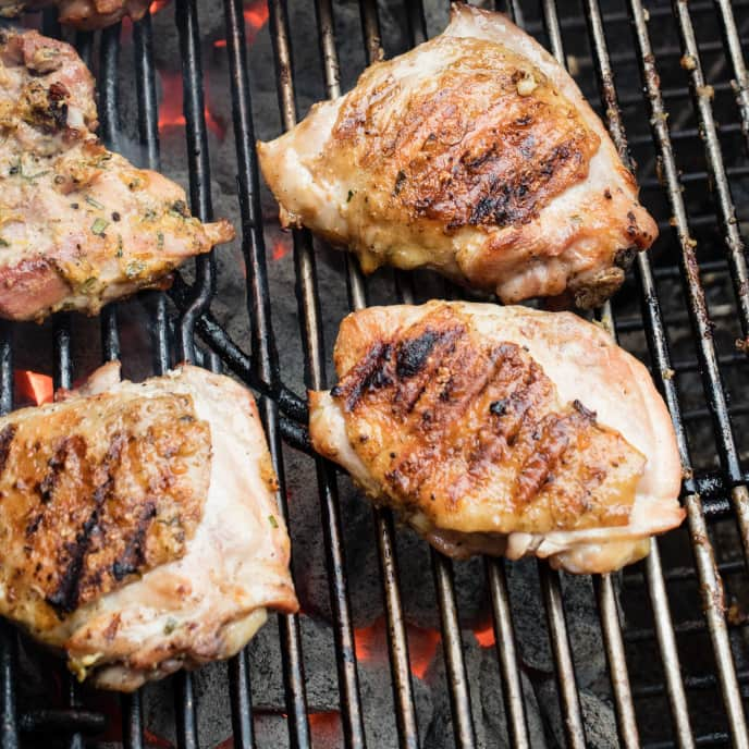 Best Grilled Chicken Thighs with Mustard and Tarragon for Two